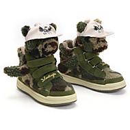 baratos Sapatos de Menino-Para Meninos / Para Meninas Sapatos Pele Inverno Botas de Neve Botas Velcro para Infantil Verde