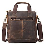 billige Mapper-mænds tasker nappa læder dokumentmappe fast farve brun
