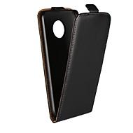 billiga Mobil cases & Skärmskydd-fodral Till Motorola G5 Plus / G5 med stativ / Lucka Fodral Enfärgad Hårt Äkta Läder för Moto X4 / Moto X Play / Moto X / Moto G5 Plus