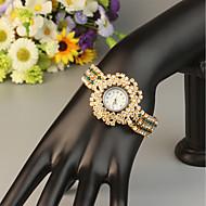 billige Quartz-FEIS Dame Armbåndsur Quartz Kronograf Legering Bånd Analog-digital Mode Guld - Blå Gyldent Marine blå