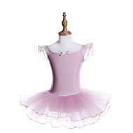 Balet Sukienki Dla dziewczynek Szkolenie / Spektakl Poliester / Spandeks Szarfy / Wstążki / Falbany kaskadowe / Gore Krótki rękaw Sukienka