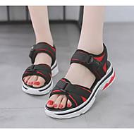 baratos Sapatos Femininos-Mulheres Jeans Verão Sandálias Creepers Preto / Vermelho