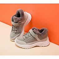 baratos Sapatos de Menina-Para Meninas Sapatos Camurça / Couro Sintético Inverno Conforto Tênis Presilha / Velcro para Infantil Cinzento / Rosa claro / Estampa Colorida