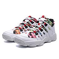 baratos Sapatos Masculinos-Homens Sapatos Confortáveis Couro Inverno Casual Tênis Manter Quente Estampa Colorida Preto / Vermelho / Branco / Preto