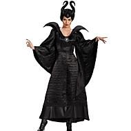 Hexe Märchen Cosplay Kleid Cosplay Kostüme Mützen Party Kostüme Erwachsene Damen Weihnachten Halloween Karneval Fest / Feiertage Polyester Schwarz Weiblich Karneval Kostüme Volltonfarbe