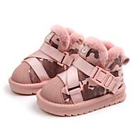 baratos Sapatos de Menina-Para Meninos / Para Meninas Sapatos Couro Ecológico Inverno Botas de Neve Botas Tira Trançada para Bébé Preto / Rosa claro / Botas Curtas / Ankle