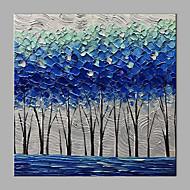 billiga Blom-/växtmålningar-Hang målad oljemålning HANDMÅLAD - Abstrakt Blommig / Botanisk Klassisk Moderna Utan innerram / Valsad duk