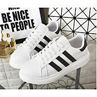 baratos Sapatos Femininos-Mulheres Lona Outono Tênis Sem Salto Branco / Branco / Preto / Branco e Verde