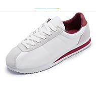 baratos Sapatos Femininos-Mulheres Cetim Verão Tênis Sem Salto Rosa e Branco / Branco / Preto