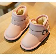 baratos Sapatos de Menina-Para Meninos / Para Meninas Sapatos Couro Inverno Botas de Neve Botas Presilha / Velcro para Bébé Preto / Marron / Rosa claro / Botas Curtas / Ankle