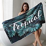 Χαμηλού Κόστους Πετσέτα μπάνιου-Ανώτερη ποιότητα Πετσέτα μπάνιου, Φλοράλ / Αποφθέγματα Πολυ / Βαμβάκι Μπάνιο 1 pcs
