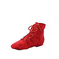 Χαμηλού Κόστους Παπούτσια χορού-Γυναικεία Παπούτσια τζαζ Πανί Μπότες / Χωριστή Σόλα Παπούτσια Χορού Λευκό / Κόκκινο / Πράσινο