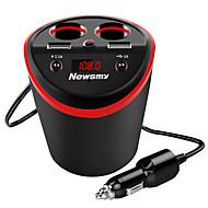 billiga Billaddare för mobilen-newsmy c60 5 v säkerhet högkvalitativ 2 USB-portladdare