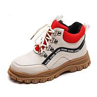 baratos Sapatos de Menino-Para Meninos / Para Meninas Sapatos Microfibra Inverno Coturnos Botas Cadarço para Infantil Preto / Bege / Estampa Colorida