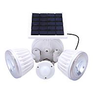 billige Utendørs Lampeskjermer-1pc 4.5 W / 2 W Led Street Light / Solar Wall Light Solar / Infrarød sensor / Dekorativ Hvit 3.7 V Utendørsbelysning / Courtyard / Have 2 LED perler