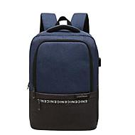 billige Computertasker-Oxfordtøj Laptoptaske Lynlås Sort / Grå / Himmelblå