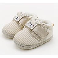 baratos Sapatos de Menina-Para Meninos / Para Meninas Sapatos Algodão Inverno Primeiros Passos Tênis Velcro para Bebê Amêndoa / Verde Claro / Estampa Colorida