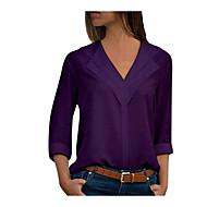 Dámské - Jednobarevné Základní Větší velikosti Halenka Košilový límec