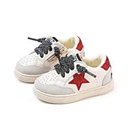 baratos Sapatos de Menino-Para Meninos / Para Meninas Sapatos Pele Inverno Conforto / Primeiros Passos Tênis para Bébé Preto / Vermelho