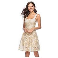 Women's Daily Elegant A Line Dress Strap Beige L XL XXL / Sexy