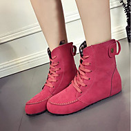 cheap Women's Boots-Women's Leather / PU(Polyurethane) Winter Comfort / Fashion Boots Boots Beige / Red / Green