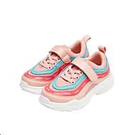 baratos Sapatos de Menina-Para Meninas Sapatos Couro Ecológico Primavera & Outono Conforto Tênis Caminhada Cadarço para Infantil Branco / Rosa claro