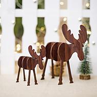 billiga Heminredning-Holiday Decorations Julpynt juldekoration Dekorativ Brun / Trä 2pcs