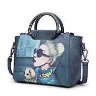 baratos Bolsas Tote-Mulheres Bolsas PU Tote Desenho Animado Azul Escuro / Cinzento / Azul Céu