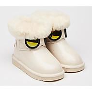 baratos Sapatos de Menina-Para Meninas Sapatos Couro Ecológico Inverno Botas de Neve Botas para Infantil Preto / Bege / Rosa claro