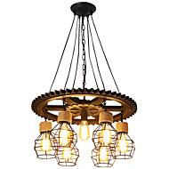 billige Takbelysning og vifter-7-Light Industriell Lysekroner Nedlys Malte Finishes Tre Tre / Bambus Kreativ 110-120V / 220-240V