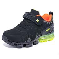 baratos Sapatos de Menino-Para Meninos Sapatos Couro Inverno Solados com Luzes Tênis Corrida / Basquete Velcro para Infantil / Adolescente Preto / Vermelho / Preto / verde / Estampa Colorida