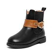 baratos Sapatos de Menina-Para Meninas Sapatos Sintéticos Inverno Coturnos Botas Presilha / Ziper para Infantil Preto / Botas Curtas / Ankle / Estampa Colorida