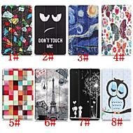 billiga Mobil cases & Skärmskydd-fodral Till Huawei Huawei Mediapad T5 10 / MediaPad T3 10(AGS-W09, AGS-L09, AGS-L03) med stativ / Lucka / Mönster Fodral Eiffeltornet / Oljemålning / Uggla Hårt PU läder för Huawei Mediapad T5 10