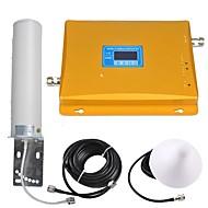abordables -affichage lcd gsm / 3g répéteur de signal de téléphone portable amplificateur de signal booster de signal 900/2100 double bande