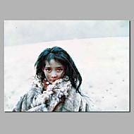 billiga Stilleben-Hang målad oljemålning HANDMÅLAD - Människor / Stilleben Moderna Duk