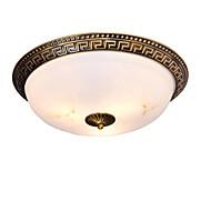 billige Taklamper-QIHengZhaoMing 3-Light Takplafond Omgivelseslys galvanisert Metall Marmor 110-120V / 220-240V Varm Hvit