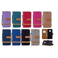 billiga Mobil cases & Skärmskydd-fodral Till Huawei Huawei Mate 20 Lite / Huawei Mate 20 Pro Plånbok / Korthållare / med stativ Fodral Tegel Hårt Textil för Mate 10 / Mate 10 lite / Huawei Mate 20 lite