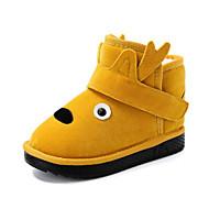 baratos Sapatos de Menina-Para Meninos / Para Meninas Sapatos Sintéticos Inverno Botas de Neve / Forro de peles Botas Velcro para Infantil / Adolescente Amarelo / Marron / Vermelho / Botas Curtas / Ankle
