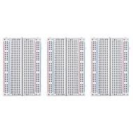3pcs 400 tie-points breadboard för hallon pi och arduino