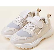 baratos Sapatos de Menina-Para Meninas Sapatos Couro Ecológico Primavera & Outono Conforto Tênis Cadarço / Velcro para Infantil Bege / Rosa claro / Rosa e Branco / Estampa Colorida