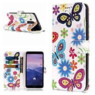 billiga Mobil cases & Skärmskydd-fodral Till Huawei Mate 10 lite / Mate 9 Pro Plånbok / Korthållare / med stativ Fodral Fjäril Hårt PU läder för Mate 10 / Mate 10 pro / Mate 10 lite