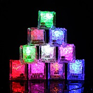 cheap $9.99-12pcs DIY Colorful Flash LED Ice Cubes Wedding Festival Decor Party Props Luminous LED Glowing Induction Ice Cubes Christmas New Year Bar