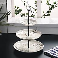 billiga Bordsservis-tre lager runda marmorpartiet bakverk tallrik frukt skål tallrik teatime hög te efterrätt bricka cp0030