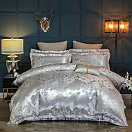 cheap Bedding Sets-Duvet Cover Sets Luxury Silk / Cotton Blend Reactive Print 4 PieceBedding Sets