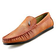 tanie Obuwie męskie-Męskie Mokasyny PU Jesień Casual Mokasyny i buty wsuwane Oddychający Czarny / Szary / Brązowy
