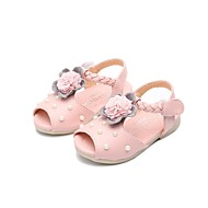 Girls' Shoes PU(Polyurethane) Spring & Summer Comfort Sandals for Kids / Teenager White / Pink / Party & Evening