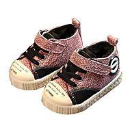 baratos Sapatos de Menina-Para Meninos / Para Meninas Sapatos Pele Inverno Conforto / Primeiros Passos Tênis Velcro para Bébé Cinzento / Marron / Rosa claro