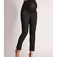 Dámské Základní Těhotenské Štíhlý Kalhoty chinos Kalhoty - Jednobarevné Nízký pas Černá