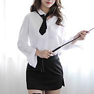 Dame Uniformer og kinesiske kjoler Nattøj - Delt Farveblok