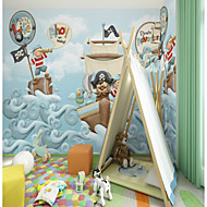 billige Tapet-bakgrunns / Veggmaleri Lerret Tapetsering - selvklebende nødvendig Maleri / Mønster / 3D